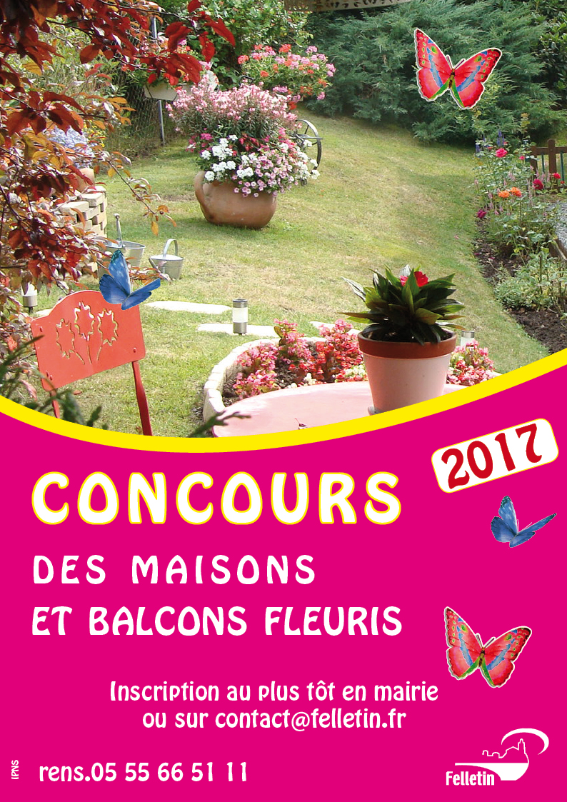 affiche concours fleurissement 2017